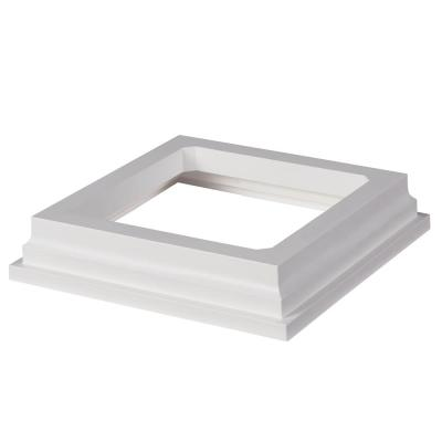 HavenView CountrySide 5 in. x 5 in. Tranquil White PVC Post Sleeve Base Moulding