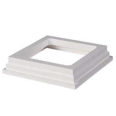 Symmetry 5 in. x 5 in. Tranquil White PVC Post Sleeve Base Moulding