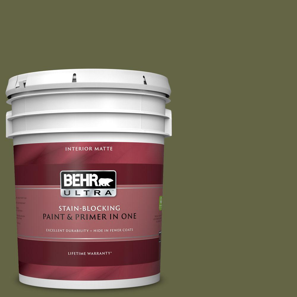 BEHR ULTRA 5 gal. #PPU9-24 Amazon Jungle Matte Interior Paint and Primer in One BEHR ULTRA 5 gal. #PPU9-24 Amazon Jungle Matte Interior Paint and Primer in One