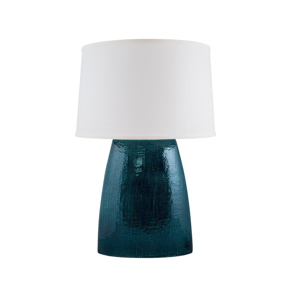 Burlap 28 in tropical turquoise indoor table lamp 565 36 the tropical turquoise indoor table lamp geotapseo Images