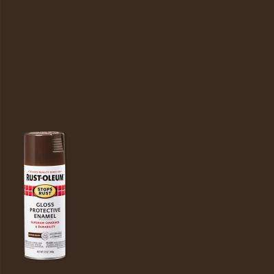 12 oz. Protective Enamel Gloss Leather Brown Spray Paint