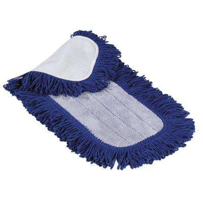 24 in. Microfiber Dry Dust Mop Pad in Blue (Case of 12)