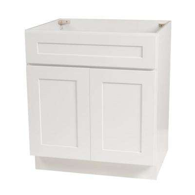 Brookings Ready to Assemble 30 x 34.5 x 24 in. Base Cabinet Style 2-Door Sink in White