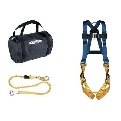 UpGear Aerial Kit with BaseWear Std Harness (Tongue Buckle Legs) and 6 ft. SoftCoil Lanyard