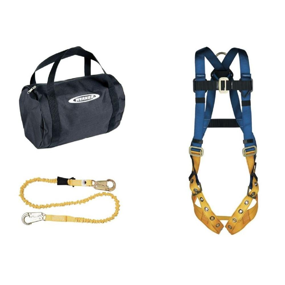 Werner UpGear Aerial Kit with BaseWear Std Harness (Tongue Buckle Legs) and 6 ft. SoftCoil Lanyard