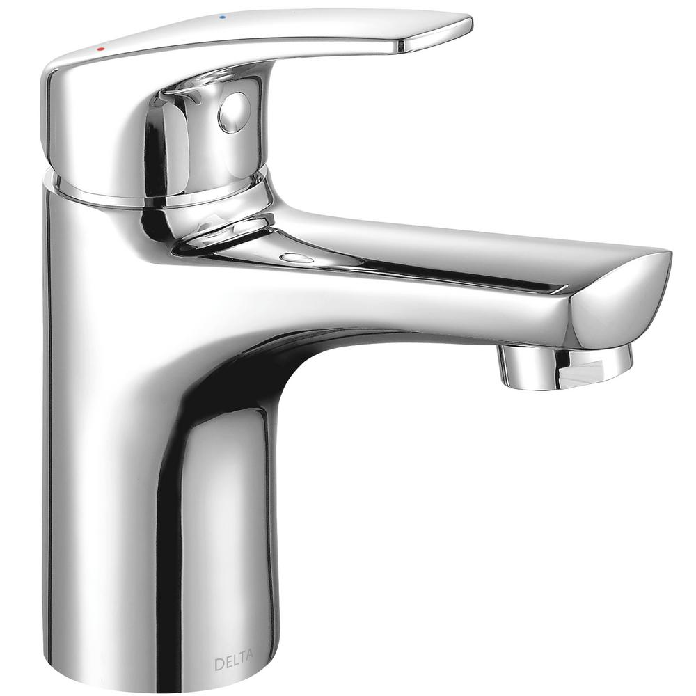 Delta Modern Low Flow Project Pack Single Hole Single Handle Bathroom Faucet  In Chrome
