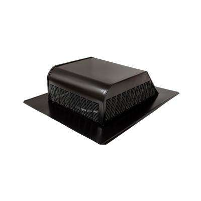50 sq. in. NFA Galvanized Black Slant-Back Roof Louver Static Vent in Black (Sold in Carton of 6 only)