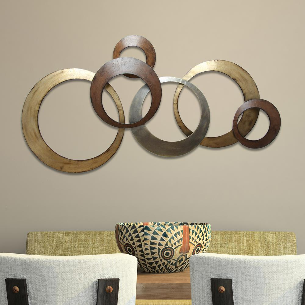Stratton Home Decor Metallic Rings Wall
