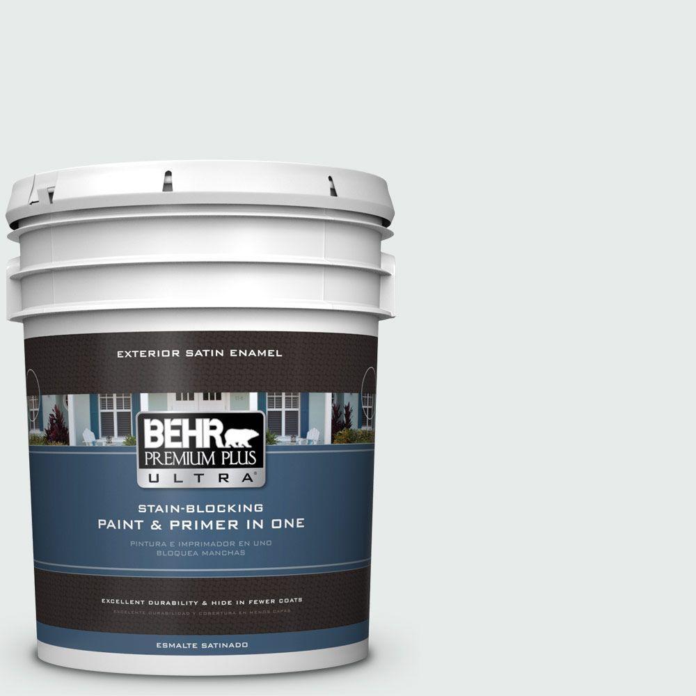 5-gal. #BL-W5 Dusting Powder Satin Enamel Exterior Paint