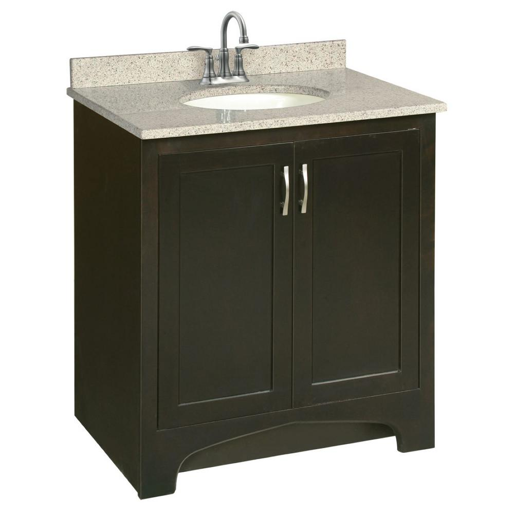 Design house ventura 30 in w x 21 in d two door - Unassembled bathroom vanity cabinets ...