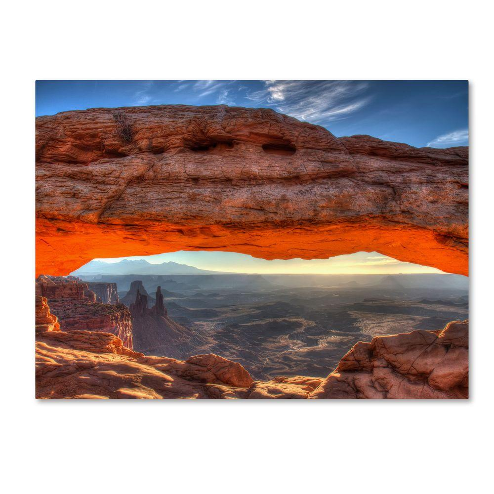 16 in. x 24 in. Mesa Arch Sunrise Canvas Art
