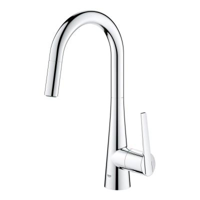 Ladylux L2 Single-Handle Pull-Out Sprayer Kitchen Faucet with Dual Spray in StarLight Chrome