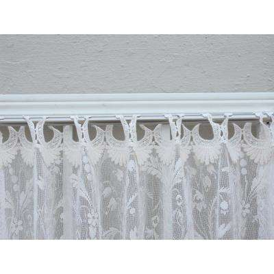 Coventry Ivory Lace Curtain 45 in. W 95 in. L