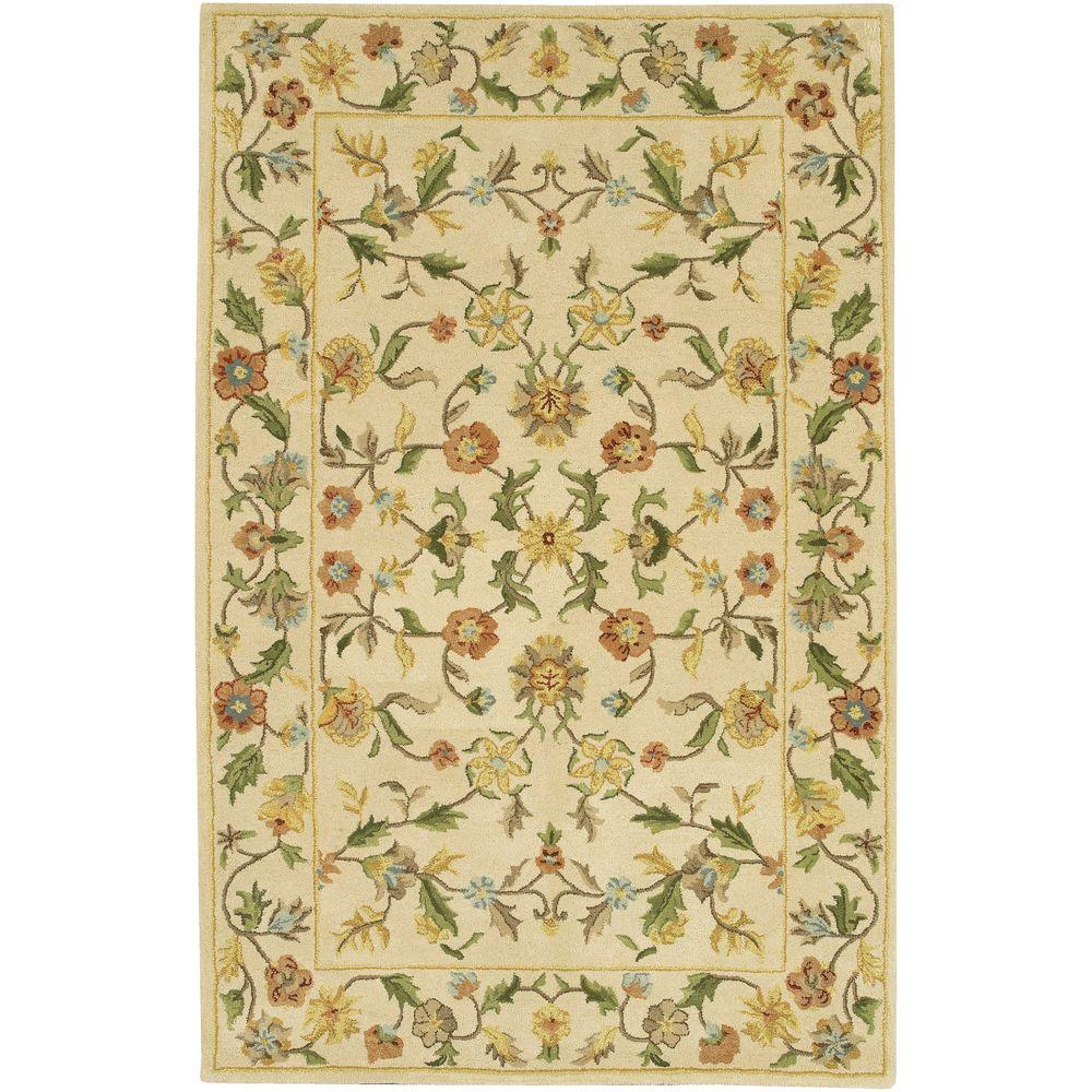 Chandra Metro Ivory/Green/Yellow/Blue/Grey/Red 7 ft. 9 in. x 10 ft. 6 in. Indoor Area Rug