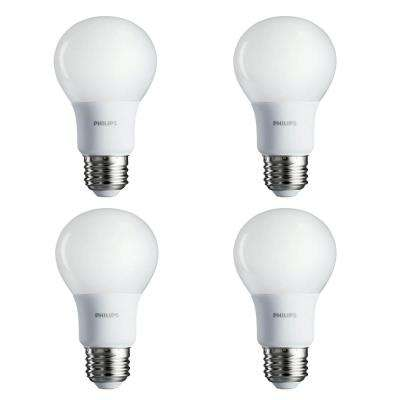 60-Watt Equivalent A19 Non-Dimmable Energy Saving LED Light Bulb Soft White (2700K) (4-Pack)