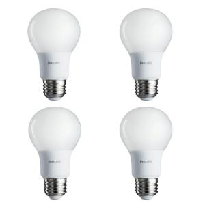 4-Pack Lot of 10 Phillips 60-Watt Equivalent A19 LED Light Bulb Soft White