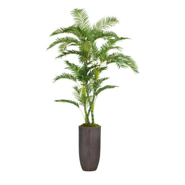 Laura Ashley 86.25 in. Tall Palm Tree Artificial Faux Dcor in