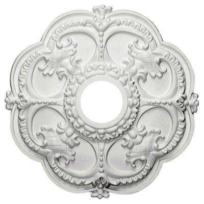 18 in. x 3-1/2 in. I.D. x 1-1/2 in. Rotherham Urethane Ceiling Medallion (Fits Canopies upto 3-1/2 in.)