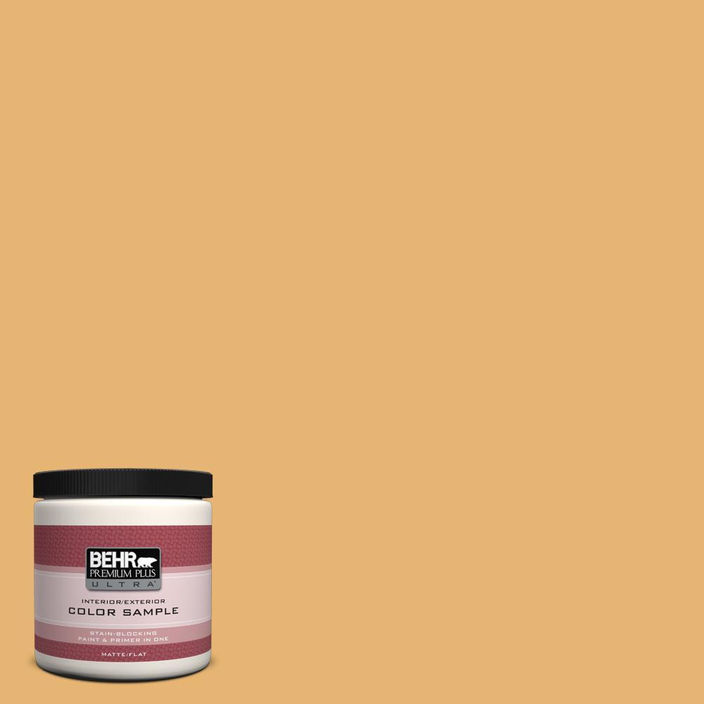BEHR Premium Plus Ultra 8 oz. #PPU6-4 Pyramid Gold Interior/Exterior Paint Sample