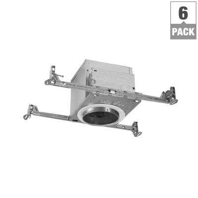 H99 4 in. Aluminum Recessed Lighting Housing for New Construction Ceiling, Insulation Contact, Air-Tite (6-Pack)