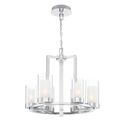Samantha 60-Watt 6-Light LED Chrome Chandelier