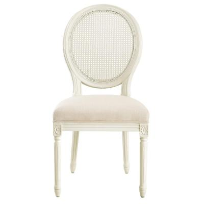 Jacques Antique Ivory Oval Back Side Chairs (Set of 2)