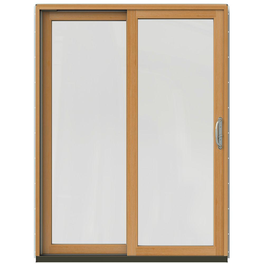JELD-WEN 60 in. x 80 in. W-2500 Contemporary Silver Clad Wood Left ...