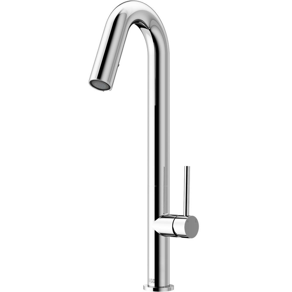 Oakhurst Led Pull-Down Kitchen Faucet in Chrome