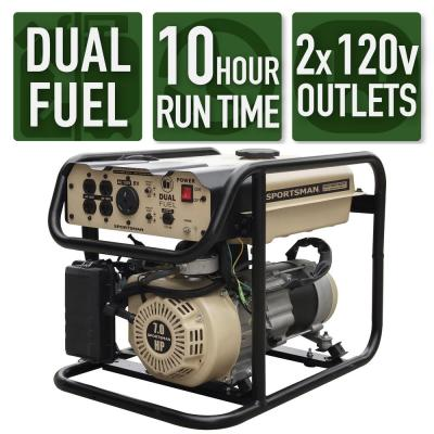 4000-Watt Recoil Start Dual Fuel Portable Generator