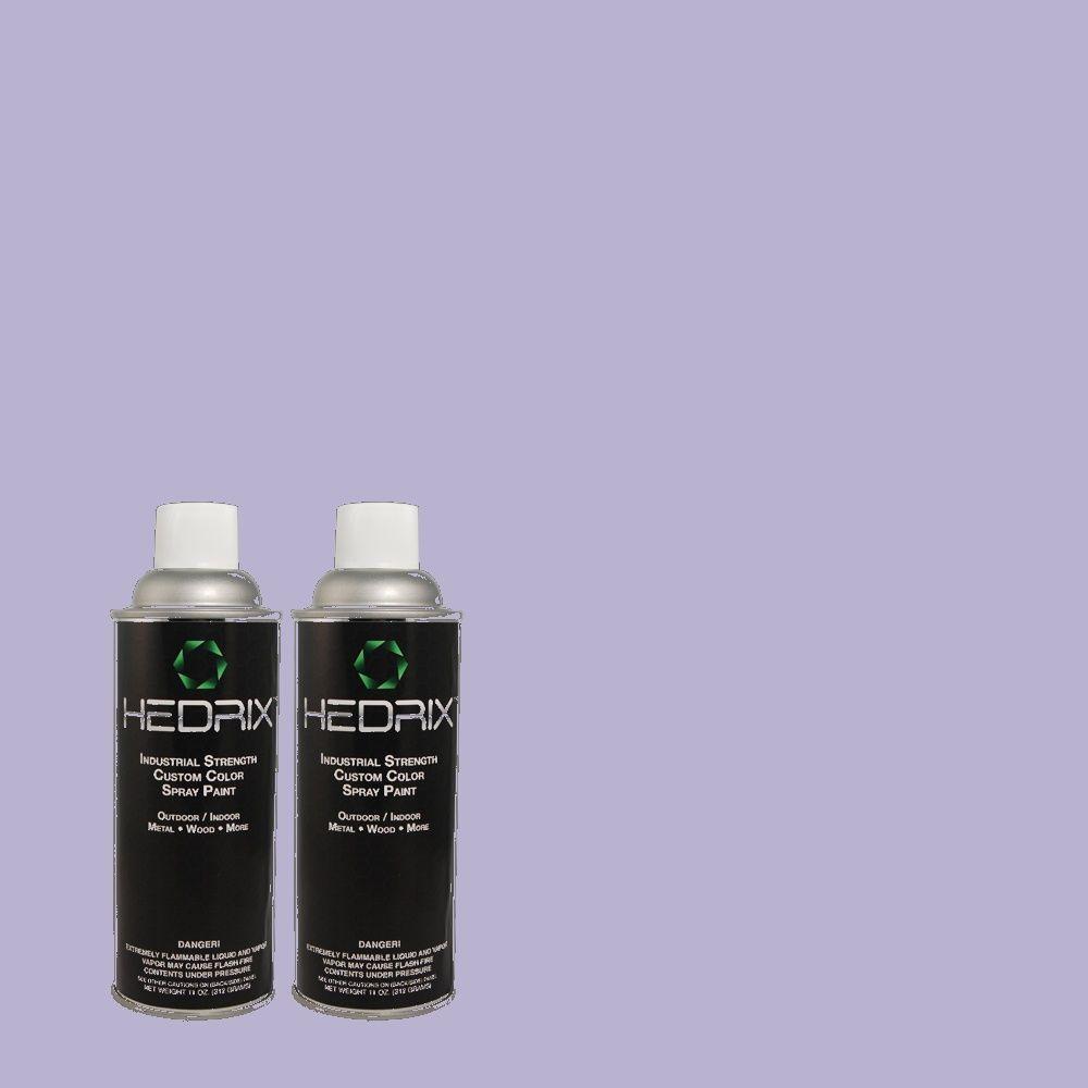 Hedrix 11 oz. Match of 620B-4 Pixie Violet Gloss Custom Spray Paint (2-Pack)