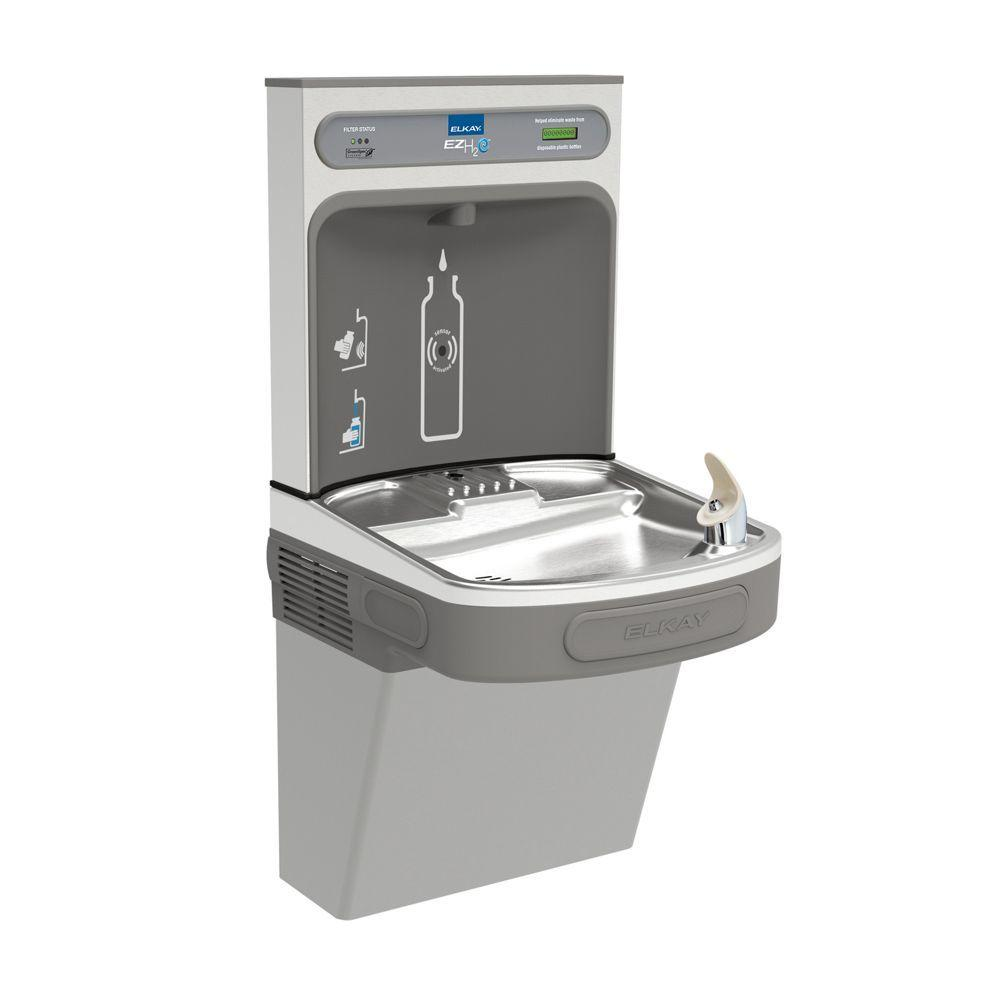 Elkay Filtered Ezh2o Bottle Filling Station With Single Ada Drinking Fountain Lzs8wslk