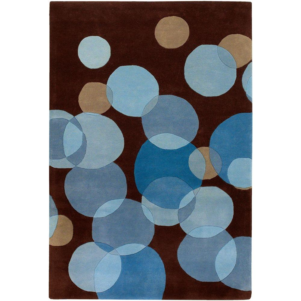 Avalisa Brown/Blue 5 ft. x 7 ft. 6 in. Indoor Area