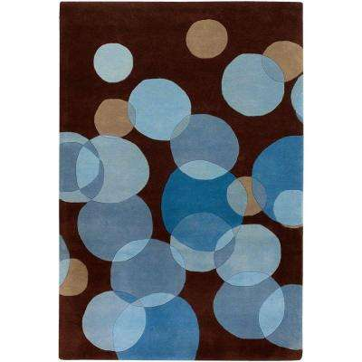 Avalisa Brown/Blue 8 ft. x 11 ft. Indoor Area Rug