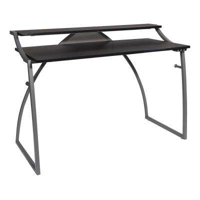 50 in. Rectangular Black Computer Gaming Desk with USB Port