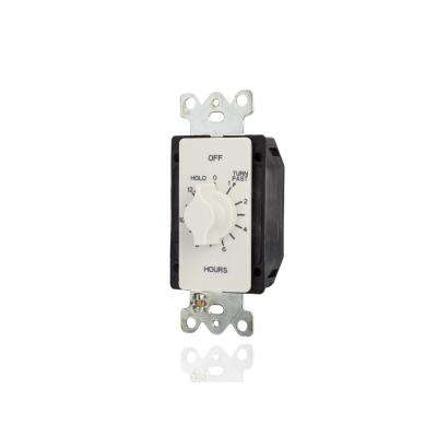 20 Amp 12-Hour In-Wall Auto-Off Spring Wound Timer, White