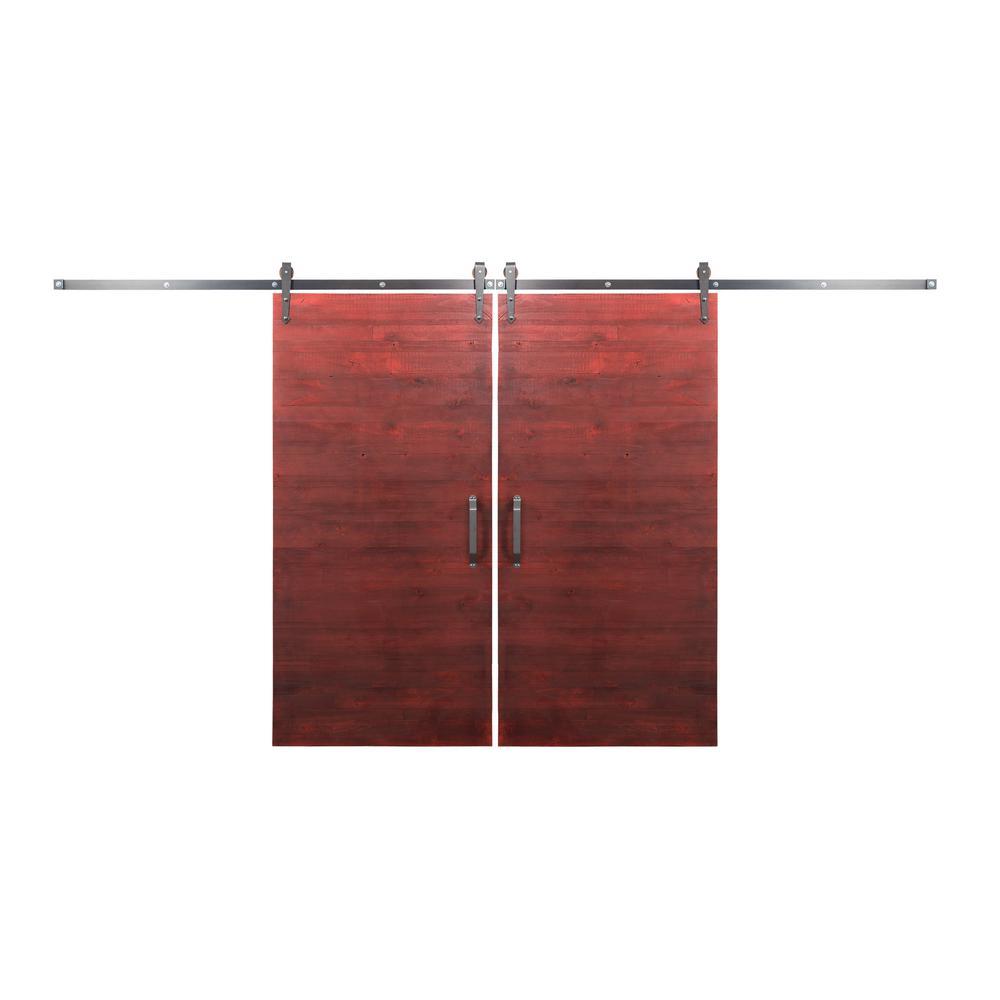 red barn door. Bi-Parting 36 In. X 84 Rustica Reclaimed Barn Red Doors Door