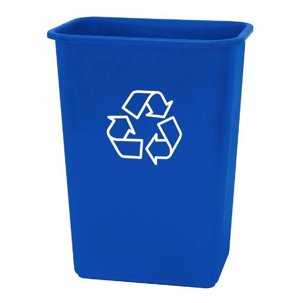 United Solutions 41 Qt. Plastic Recycling Wastebasket