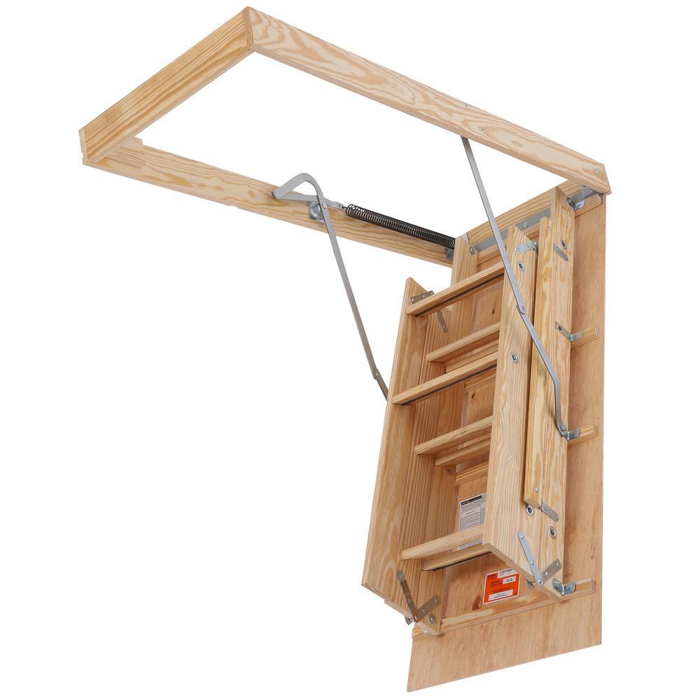 Louisville Attic Ladder 7 8 Ft Full Grip Handrail