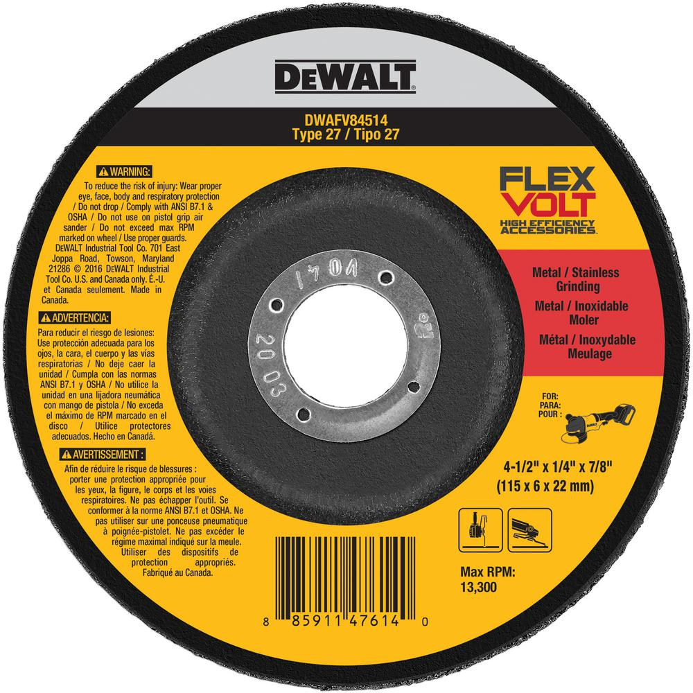FlexVolt 4-1/2 in. x 1/2 in. x 7/8 in. Grinding and