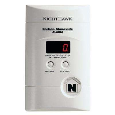 Plug-in Carbon Monoxide Detector with 9V Battery Backup and Digital Display