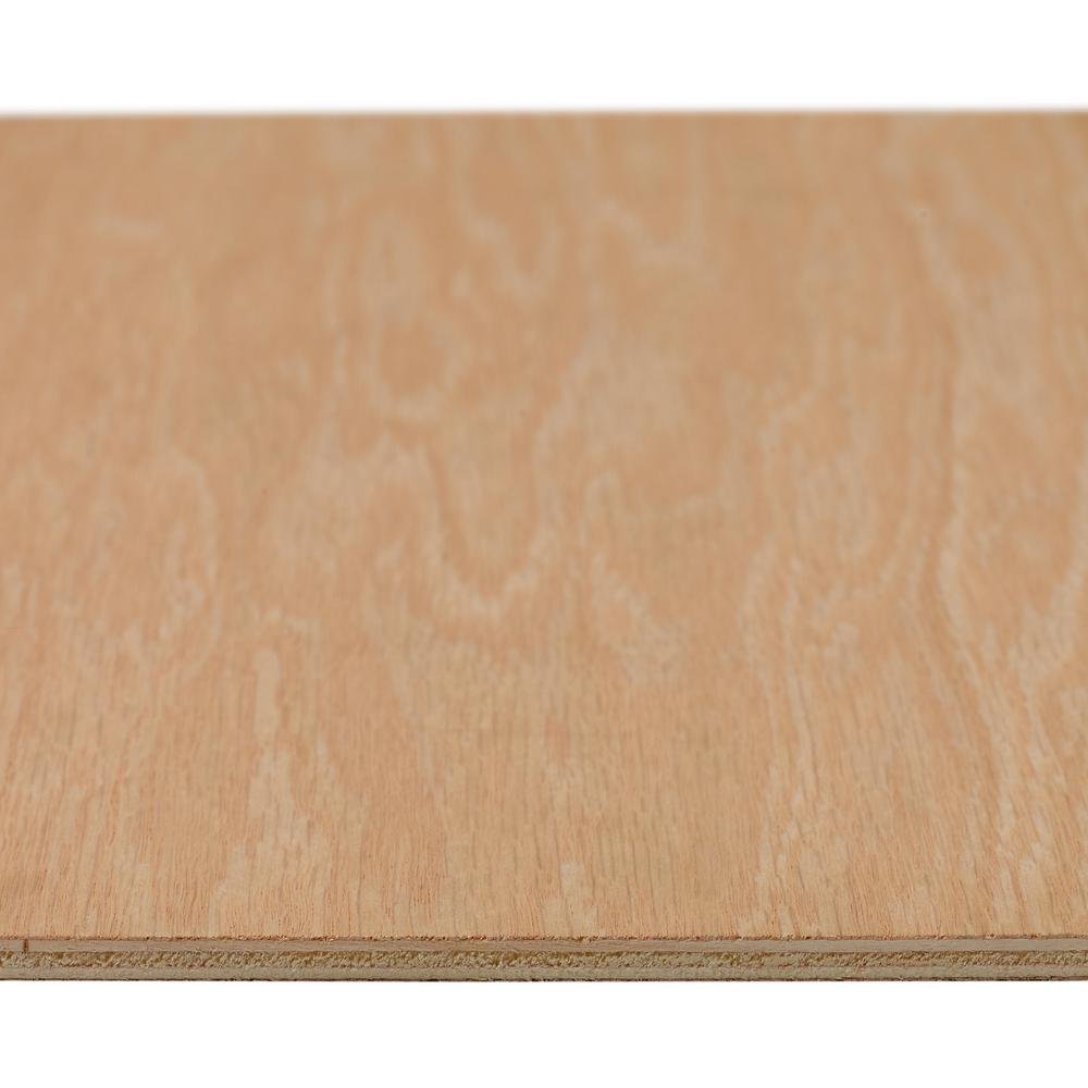 Red Oak Plywood (Common: 1/4 in. x 2 ft. x 4