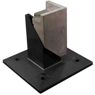 5.5 in. x 1.75 in. x 5.5 in. Black Metal Surface Mount