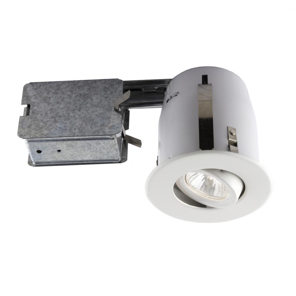 4-in. White Recessed Halogen Lighting kit
