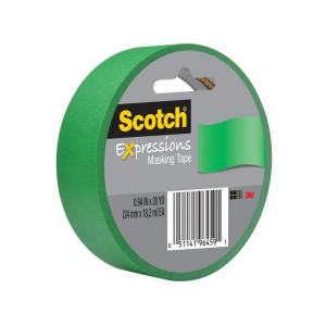 3M Scotch 0.94 inch x 20 yds. Primary Green Expressions Masking Tape (Case of... by 3M