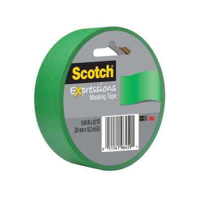 Scotch 0.94 in. x 20 yds. Primary Green Expressions Masking Tape (Case of 36)