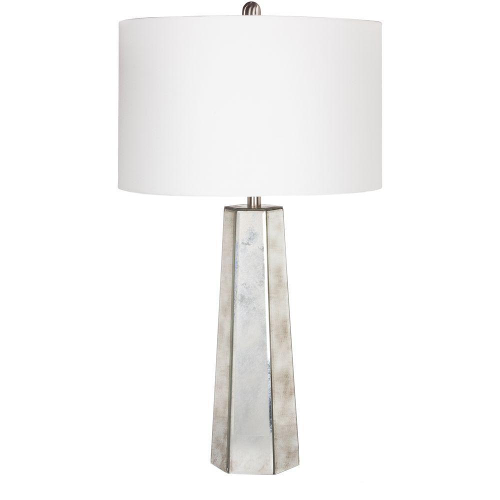 Rammah 28.5 in. Antiqued Mirror Indoor Table Lamp