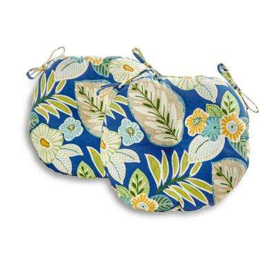 Marlow Floral 18 in. Round Outdoor Seat Cushion (2-Pack)