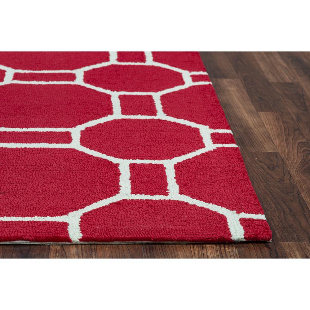 Azzura Hill Red Geometric 9 ft. x 12 ft. Indoor/Outdoor Area Rug