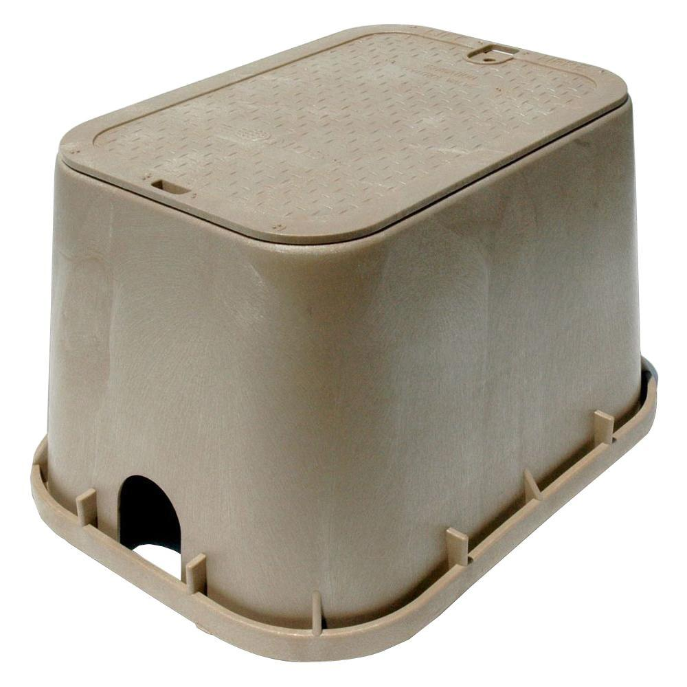 14 In X 19 Valve Box With Overlapping Icv Cover Sand