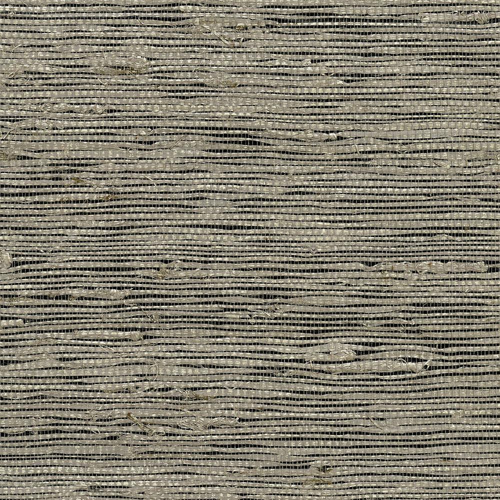 8 in. x 10 in. Yangtze Taupe Grass Cloth Wallpaper Sample